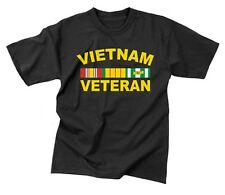 Vietnam Veteran RIBBONS T-shirt Air Force Navy Army Marine Corps USMC USCG Vet