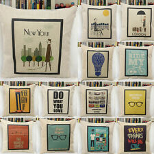 """New Vintage Throw Pillow Case Cushion Cover 18"""" Home Decorative Sofa 14types"""