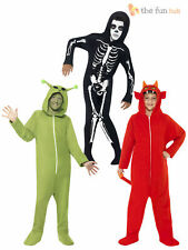 Boys Halloween Hooded Onesie Fancy Dress Costume Horror Party Outfit