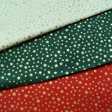 Christmas Sparkly Festive Stars 100% Cotton Fabric