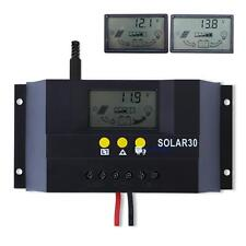 10A/15A/20A/30A 12V/24V Solar Panel Battery Charge Controller Regulator US STOCK