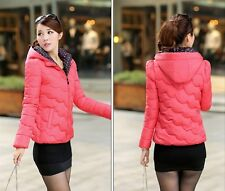 2014 Women's new  wave point short paragraph Slim hooded jacket cotton padded