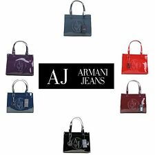 BORSA DONNA ARMANI JEANS SHOPPING BAG SMALL VERNICE PVC ART. 0520A