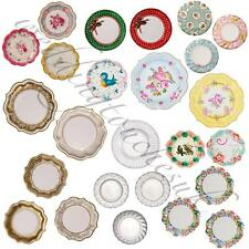 New Luxury Paper Plates Vintage Style Tea Party Plates Tea Party Accessories