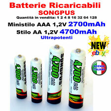 # Batterie Ricaricabili SONGPUS 4700A Caricabatterie AA AAA Battery Rechargeable