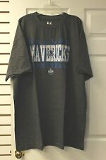 Dallas Mavericks Charcoal Grey With White/Blue Letters Majestic T-Shirt