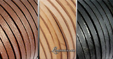 100% REAL LEATHER FLAT 5MM THONG THONGING NECKLACE JEWELLERY CORD