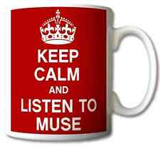 KEEP CALM AND LISTEN TO MUSE GIFT MUG CARRY ON COOL BRITANNIA RETRO CUP