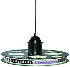 "Pendant Led Light Fixture Paramount Pictures 18 1/2"" 35mm Film Reel Home Theater"