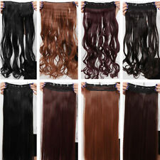 Newly Stylish SALON FINEST HAIR EXTENTIONS 5 CLIPS IN Curly Wavy Straight USA AM