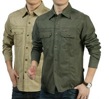 Spring/Autumn male military casual shirt,Men brand long-sleeve shirt,100% cotton