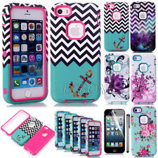 Armor Hybrid Dual Layer Shockproof TPU Matte Hard Case Cover For iPhone 5S SE 5C
