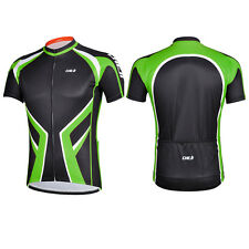 NEW Cheji Summer Green Short-Sleeved Jersey Fabric Breathable Wicking Men Loaded