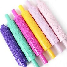 DIY Rolling Pin Cake Candy Pastry Tools Mold Gum Embossing Sticks 6 Colors Decor