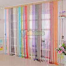 Fashion Spiral String Curtain Door Window Panel Room Divider Optional Color