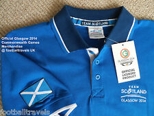 LARGE TEAM SCOTLAND POLO SHIRT GLASGOW 2014 OFFICIAL COMMONWEALTH GAMES jersey
