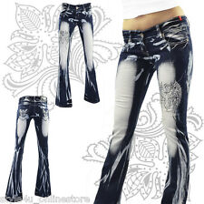 ** Crazy Age Stylische Jeans Hose Bootcut Muster 34 36 38 40 42 Top Design!