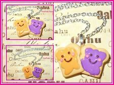 PB&J Peanut Butter Jelly Happy Emo Toast Retro Funky Kawaii Necklace Harajuku