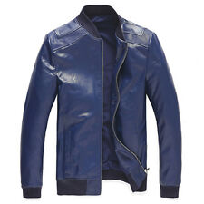 100% Sheep Leather Men's Winter Warm Stand Collar jacket Overcoat Coat Outcoats