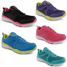 Ladies Flat Casual Running Lace Up Gym Walking Sports Trainers Womens Shoes Size