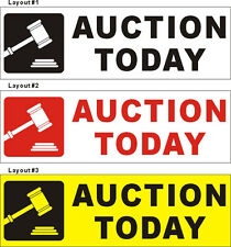 2ftX6ft Custom Printed AUCTION TODAY Banner Sign