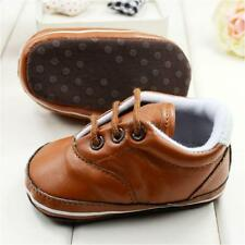 Toddler Kids Baby Boy Girl Shoes Faux Leather Soft Soled Sneaker First Walkers