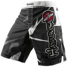 Hayabusa Metaru Performance Shorts (Black/White) - mma bjj training