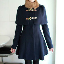 NEW Women Lady Winter Fashion Long Woolen Coat Korean Sweet Cloak stand collar