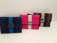 Tommy Hilfiger Women's French Wallet Pink Navy Blue Brown Clutch New