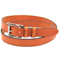 "Orion Leather 1 1/4"" Bridle London Tan Leather Belt Saddle Groove Roller Buckle"
