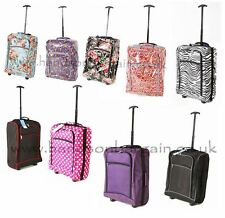 Flight Cabin Size Approved Hand Lightweight Wheeled Trolley SuitCase Bag Luggage