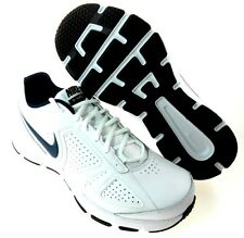 NIKE T-LITE XI 4E(EXTRA WIDE) MEN'S WHITE/BLK/NAVY SHOES, #616545-101