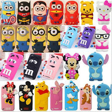 Child Gift 3D Cute Cartoon Soft Cover Case For iPod touch 4TH 5 5TH gen+film+Pen