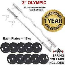 OLYMPIC pesi disco PIASTRE Barbell imposta Weightlifting Powerlifting FITNESS GYM