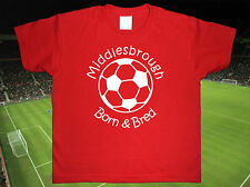 MIDDLESBROUGH Football Baby/Kid's/Children's T-shirt Top Personalised-Any colour