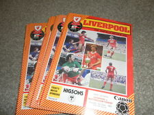LIVERPOOL HOME PROGRMMMES FROM 1983/4  INC CUP EURO  LEAGUE CHOOSE FROM LIST