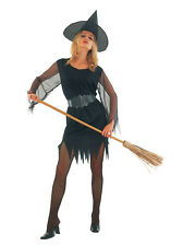 HALLOWEEN FANCY DRESS COSTUME - LADIES FUN SEXY WITCH in SIZES 8-18