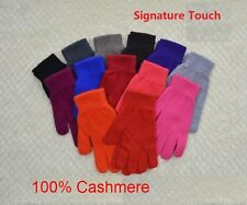 Mongolia 100% Pure Cashmere Wool Women Woman Signature Touch Glove Warm Soft