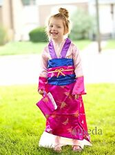 Halloween Kids Deluxe Hot Pink Mulan Party Dress Purse Qipao Chinese Costume 2-8
