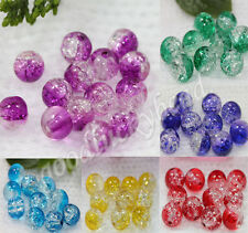 Top Czech Glass Crackle Cracked Loose Spacer Round Charms Beads Jewelry 6mm 8mm