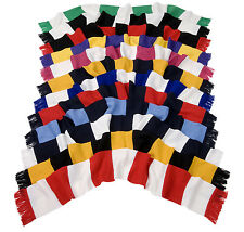 Result R146X Traditional Retro Football Team Bar Scarf-Tassel Trimmed-Heavy Knit