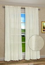 "Solid Natural Linen Blend Window Curtain Panel High Class 60"" X 45"" 63"" 84"" 95"""