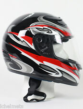 RZ80RG - DOT Full Face Red Graphic Motorcycle Full Face Helmet