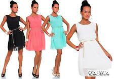 Summer Dress Cocktail Mini Dress With Chain in 4 Colours Gr. 36 38 S M