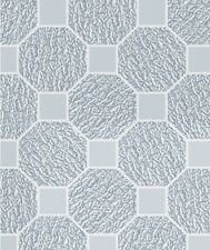 Contemporary Octagonal White Adhesive-Free Stained Glass Window Film Cling