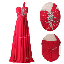 US CLEARANCE~ Long Evening Party Ball Prom Gown Formal Bridesmaid Cocktail Dress