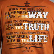 Mens Christian Religious  THE WAY THE TRUTH & THE LIFE T-shirt
