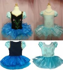 Hot Girls Frozen Elsa Anna Ballet Tutu Dance Party Dress 2-8Y Kids Leotard Skirt