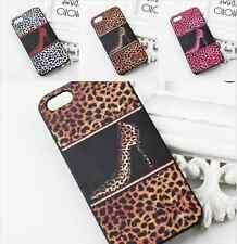 Sexy Hot Leopard High Heels Hard Cover Skin Protect Case for Iphone 4 4S 5 5S
