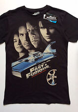 PRIMARK Official Mens FAST & FURIOUS PAUL WALKER VIN DIESEL MOVIE LOGO T Shirt